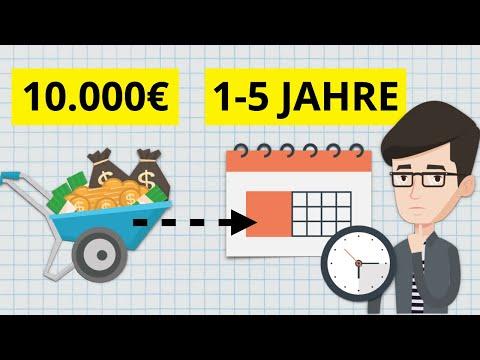 Wie 10.000€ über 1-5 Jahre anlegen? Kurzfristig bis mittelfristig Geld anlegen