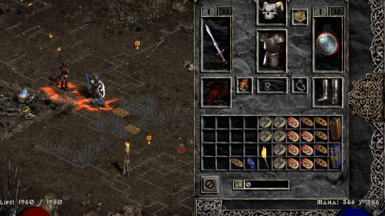 Diablo II Auradin build with skills and items