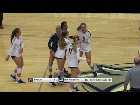 UNH Volleyball Vs Seattle Highlights (9-5-19)