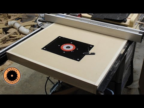 Table Saw extension wing Router Table