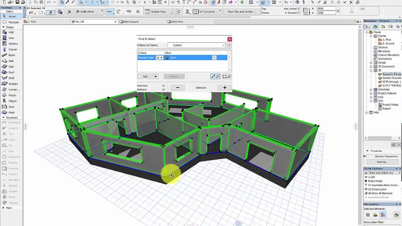 Archicad to laser cutter floor plan via adobe for Adobe floor