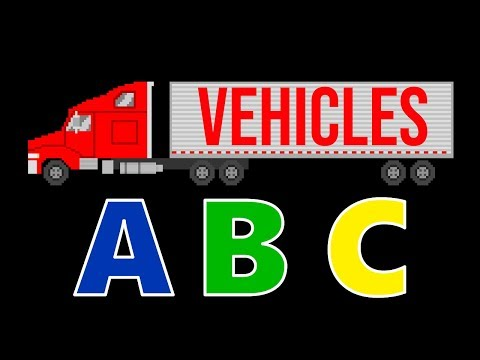 Vehicles ABC Song - Learn the Alphabet with Street Vehicles - Cars & Trucks - The Kids' Picture Show