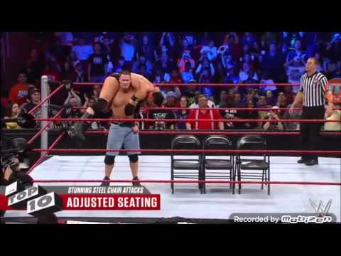 steel chair in wrestling wooden rocking for child wwe top 10 stunning shots youtube