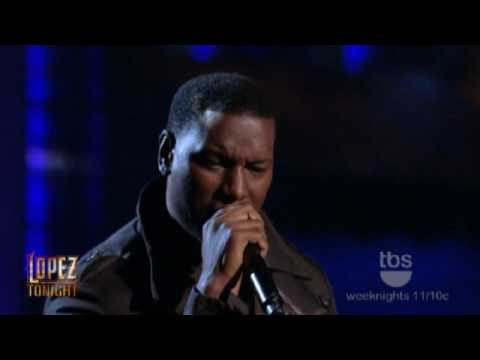 "Lopez Tonight - Tyrese Gibson Pays Tribute to Teddy Pendergrass -  "" Come Go With Me "" - Live HD"