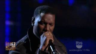 Lopez Tonight - Tyrese Gibson Pays Tribute to Teddy Pendergrass -   Come Go With Me  - Live HD
