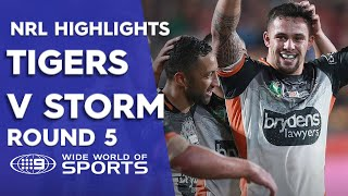 NRL Highlights: Wests Tigers v Melbourne Storm - Round 5