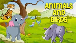 Learn Animals and Birds Names | Pre School Learning and Kids Education