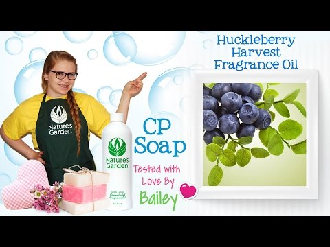 Soap Testing Huckleberry Harvest Fragrance Oil- Natures Garden