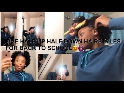 5 HALF UP HALF DOWN HAIRSTYLES || BTS ||