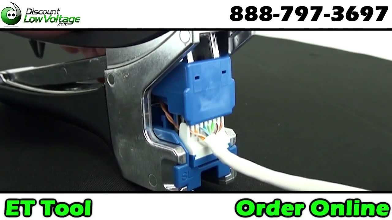 How To Punch Down An Rj45 Rj11 Jack Easy Youtube Rj11cameracablediagramjpg
