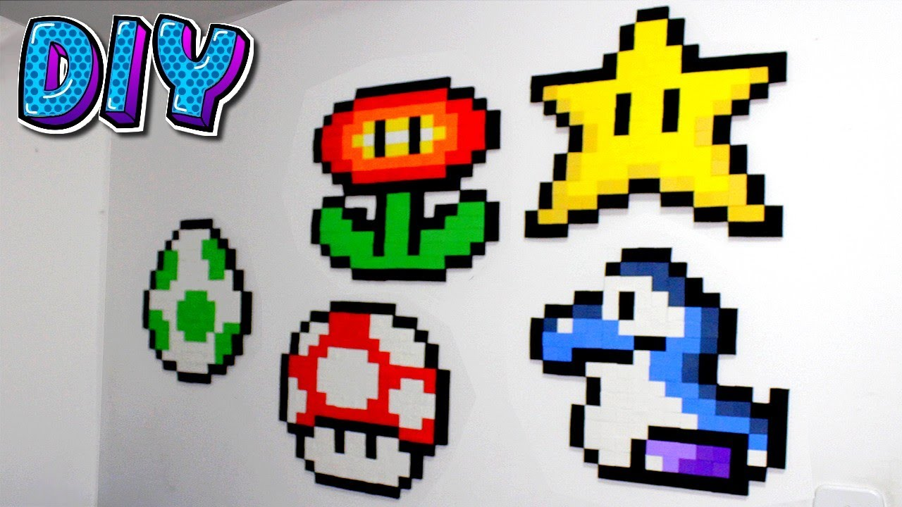 DIY Mario World - Big Pixel Art.