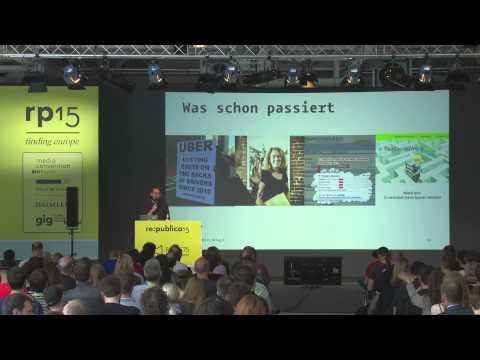 re:publica 2015 - Johannes Kleske: Mensch, Macht, Maschine – Wer bestimmt wie wir morgen arbe... on YouTube