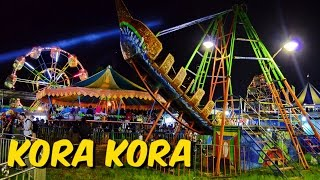 Wahana Kora Kora Pasar Malam Sekaten Yogyakarta HD 720p