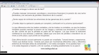 Curso de Forex - 80 de 99 - La pereza del trader de Forex de ser rico. La Psicologia