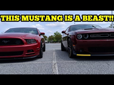 2018 CHALLENGER SCATPACK VS. LIGHTWEIGHT FBO E85 2013 MUSTANG GT!! DIFFERENT TYPE OF POWER!!