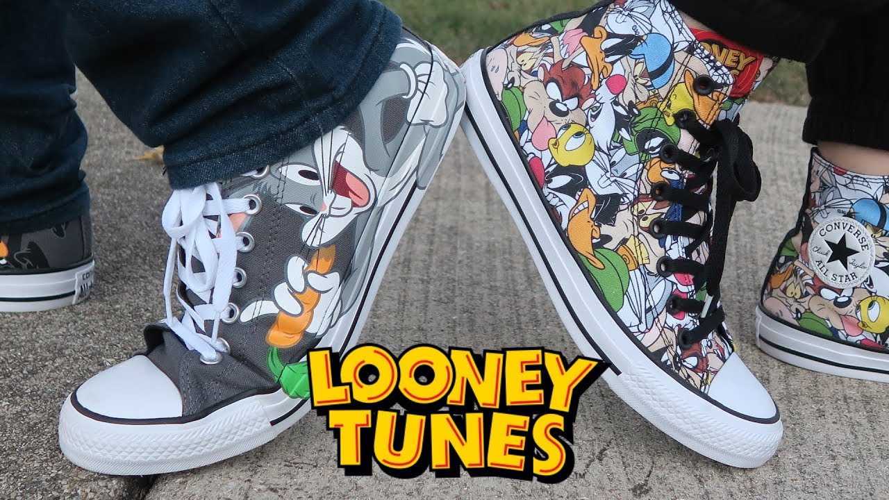 c7b7de95a4869 UNBOXING - OFFICAL LOONEY TUNES x CONVERSE SHOES Rivalry Pack! By Warner  Bros
