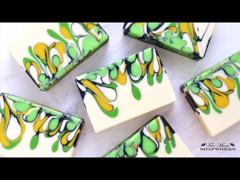 Drop Swirl Technique, Cold Process Soap Making, Jan. 2019 Saponification Nation/Soap Challenge, #2