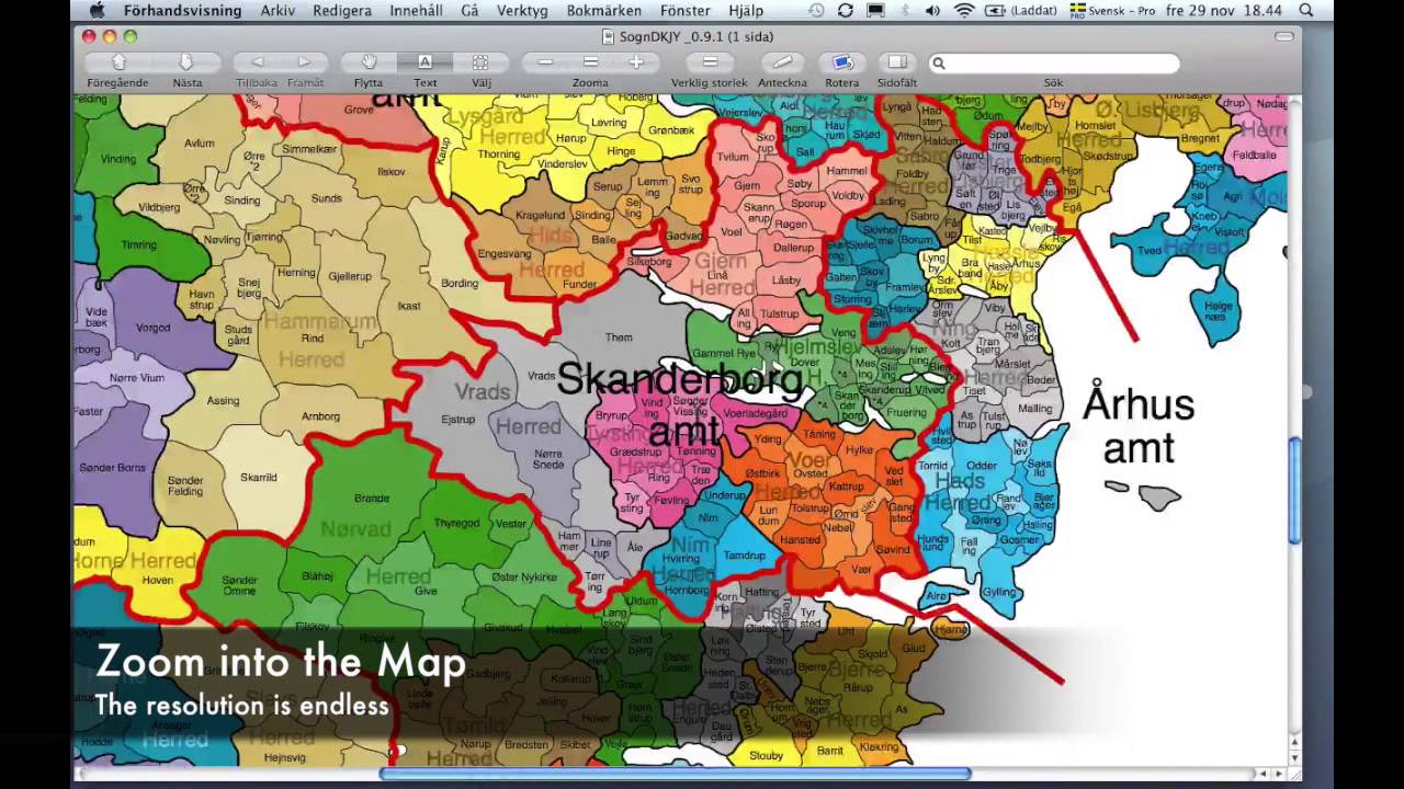 New sogn map over sogns in denmark youtube gumiabroncs Choice Image