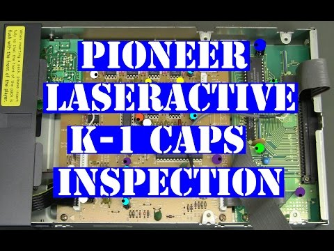 Pioneer LaserActive Pac-K1 karaoke inspect caps with diagram