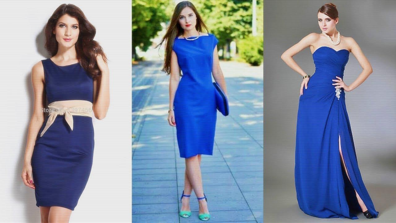 Vestido casual color azul