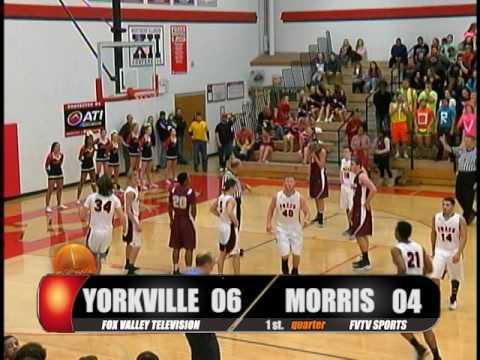 High School Boys Basketball Yorkville, IL vs Morris, IL 2017