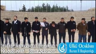 20 Şubat 2017 - Uludağ Üniversitesi Ülkücüleri Basın Açıklaması