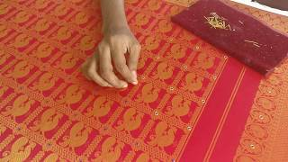 Stones and Zardosi on a Silk Saree