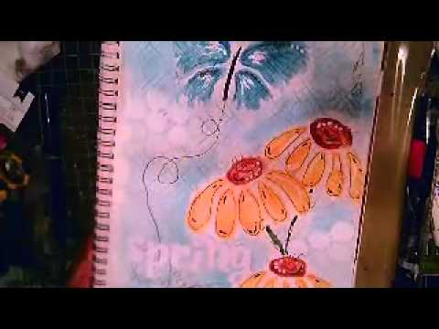 Spring Clean Art Journal Page 2