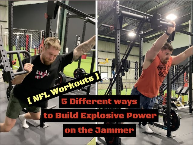 5 Different ways to Build Explosive Power on the Jammer [ NFL Workouts ]