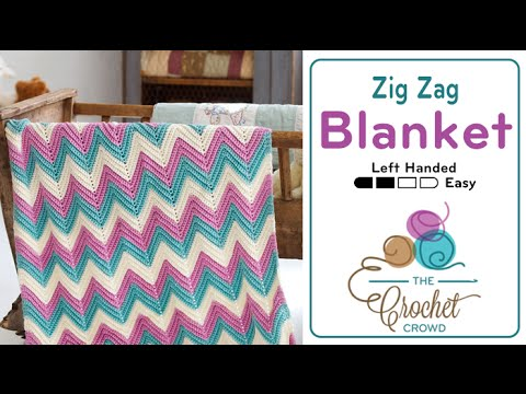How To Crochet An Afghan Chevron Or Ripple In Any Size Left Handed
