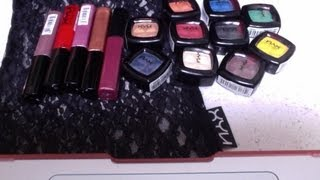 Makeup haul review on NYX cosmetics eyeshadow & lipgloss Thumbnail