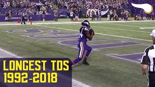 The Longest Vikings TD Every Year (1992-2018)