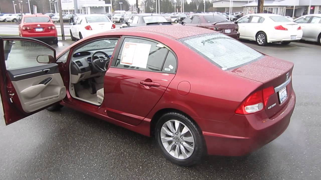 2009 Honda Civic Tango Red Pearl Stock 29905a Walk