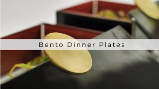 Bento Dinner Plates by MyGlassStudio - Covered Dinner Plates / Bento Boxes. Covid-19 Food Trends