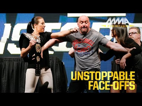 UFC Unstoppable Press Conference Staredowns