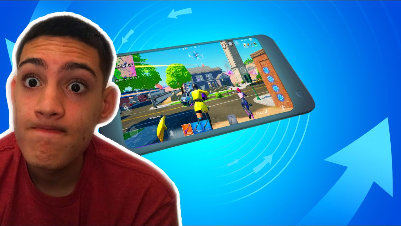 Fortnite NEW Gyroscope Motion Controls | GAME BREAKING MOBILE SETTING