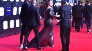 شوف الي داس على فستان المزة كان هيقطعه في مهرجان وشوشة ٢٠٢٠