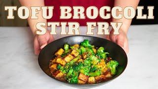 CRISPY TOFU | tofu recipes | tofu and broccoli recipe