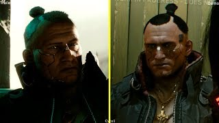 Cyberpunk 2077 E3 2018 Trailer vs Gameplay Demo Graphics Comparison