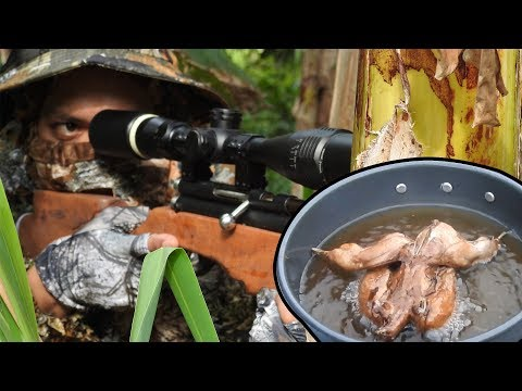 Quail Hunting in the Philippines (HUNT-COOK-EAT) fried Quail