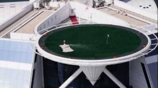 Rory McIlroy on the Burj Al Arab Helipad