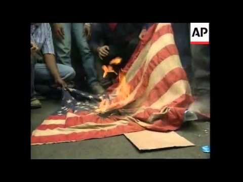 VOICE: Protests outside US embassy in Jakarta