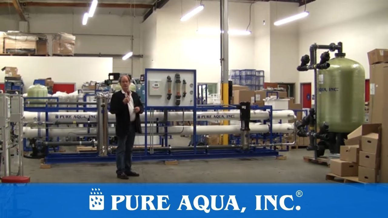 Industrial Tap Water Reverse Osmosis System USA 87 000 GPD