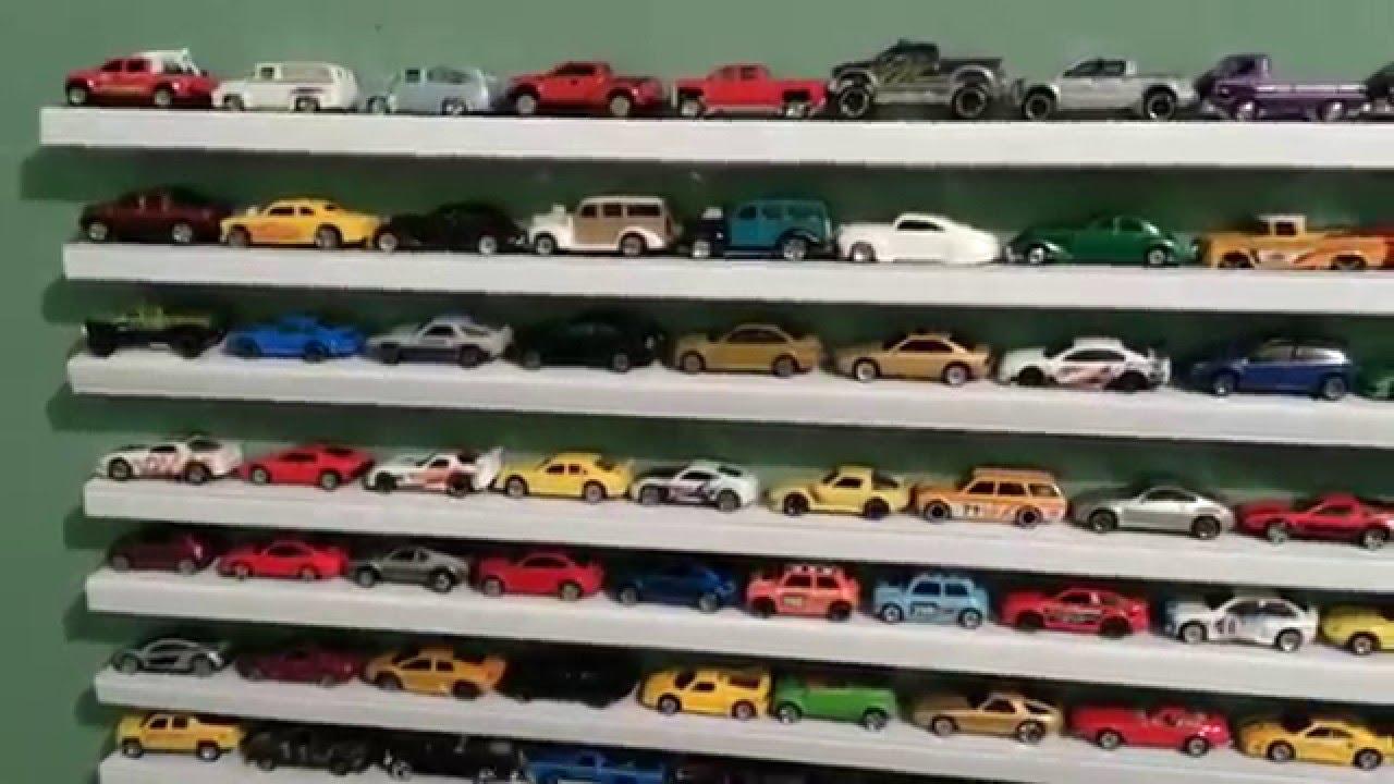 Toy Cars Holder Shelf : Poor man s hotwheels matchbox shelves youtube
