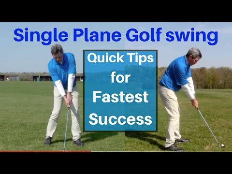 Converting to a Single Plane Golf swing – free tips – Easier golf swing