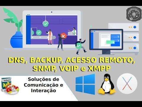 DNS, Backup, Acesso Remoto, SNMP, VoIP e XMPP