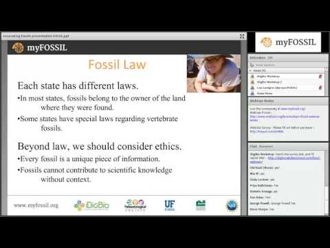 "Fall 2016 FOSSIL Project Webinar Series 1 - Webinar 3 - ""Excavating Fossils"""