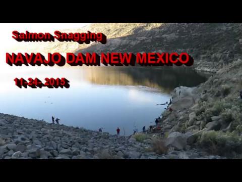 NAVAJO DAM New Mexico Salmon Snagging.