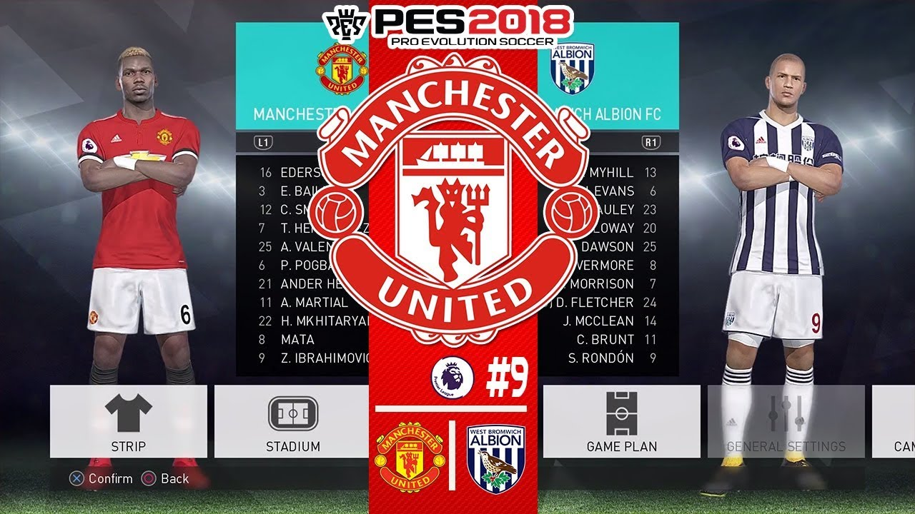 Pes  Master League  Manchester United X West Bromwich Albion Fc Tlink