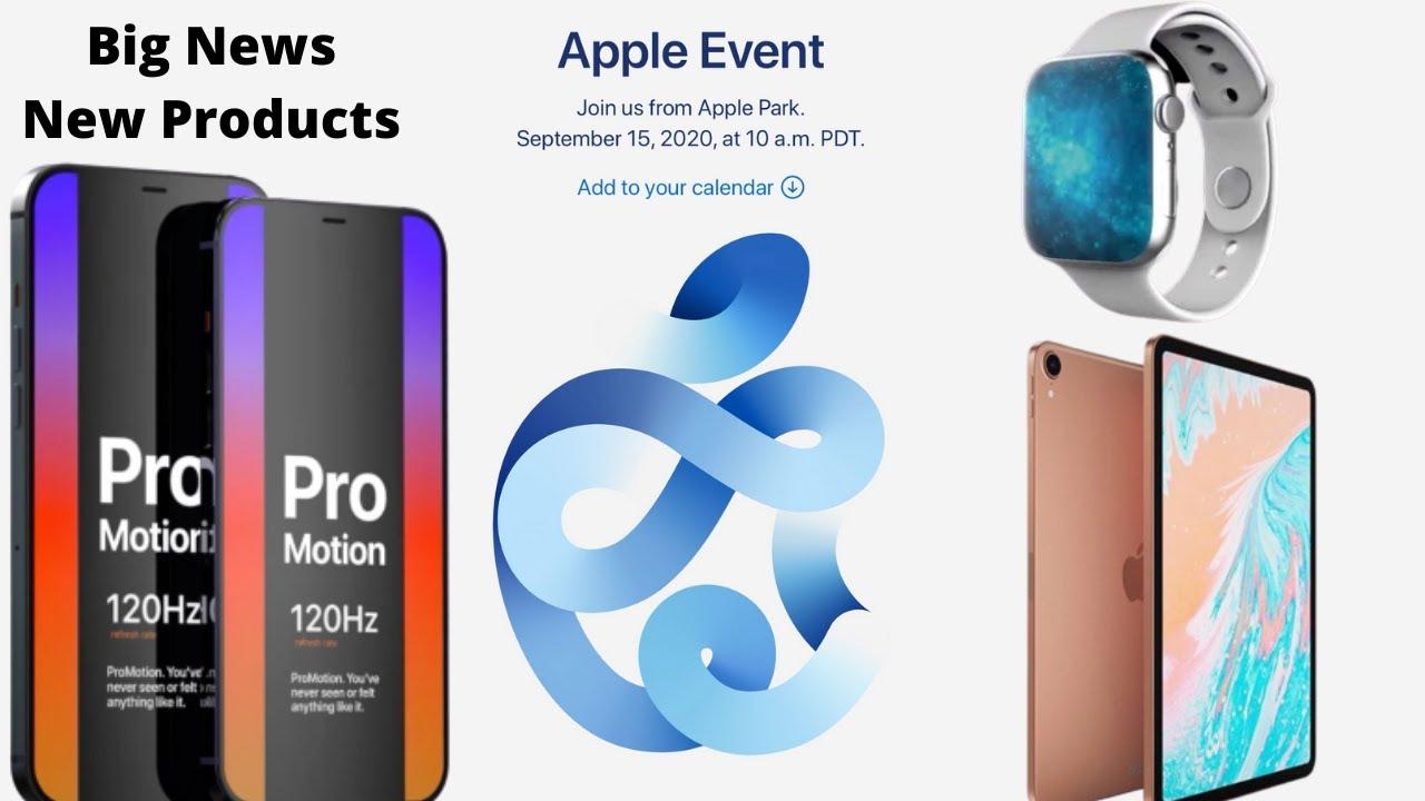 Big News Apple Event 2020 | iPhone 12, iPad 8th gen, iPad Air 4, Apple  Watch Series 6 - YouTube